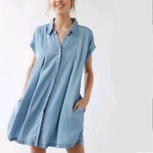 UO Cooperative Charmane Chambray Dress